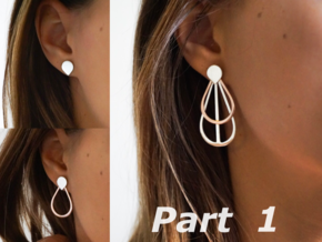 Drops Stacking Earrings - Part 1 in Polished Silver