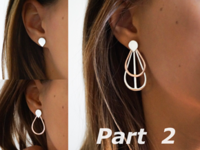 Drops Stacking Earrings - PART 2 in 14k Rose Gold Plated Brass