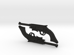 1:6 Browncoat Pistols (set of 2) in Black Acrylic