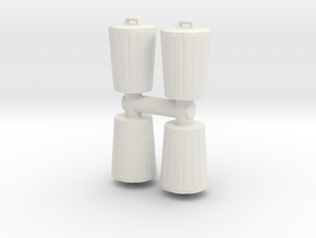 Trash can (x4) 1/76 in White Natural Versatile Plastic