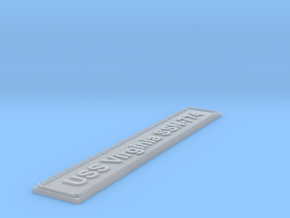 Nameplate USS Virginia SSN-774 in Smoothest Fine Detail Plastic