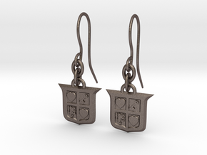 Legend of Zelda Inspired Earrings With Hooks in Polished Bronzed Silver Steel
