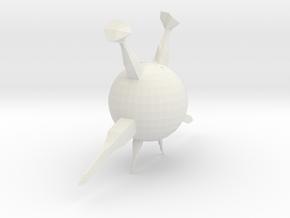 ball monster in White Natural Versatile Plastic: Small
