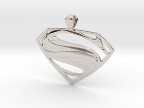 Man Of Steel - Pendant in Platinum