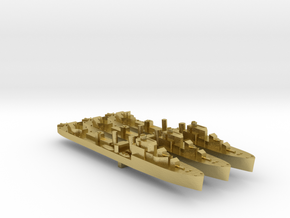 3 pack Havant class destroyer 1:2400 WW2 in Natural Brass