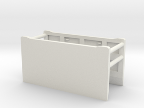 1/64th Excavation Trench Box Shield in White Natural Versatile Plastic