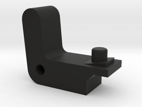Airsoft Mac 10 AEP Magazine Release in Black Natural Versatile Plastic