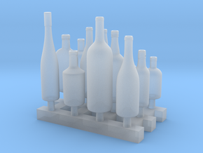Liquors Bottles (3) 1:24 in Smooth Fine Detail Plastic
