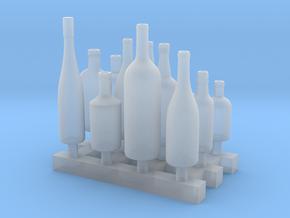 Liquors Bottles (3) 1:24 in Smooth Fine Detail Plastic