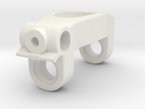 Front C-Hub for Ball Bearings, Tamyia M-07 M-08 in White Natural Versatile Plastic