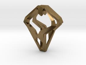HEAD TO HEAD Open, Pendant.  in Natural Bronze