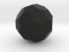 Icosahedron-Hex (Soccer Ball) in Black Natural Versatile Plastic