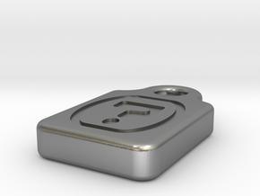 microSDNecklaceQmark in Natural Silver