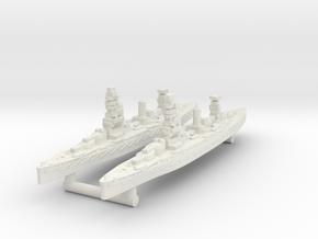 Fuso Class Battleship (1925) [x2] in White Natural Versatile Plastic