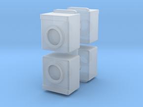Washing Machine (x4) 1/87 in Smooth Fine Detail Plastic