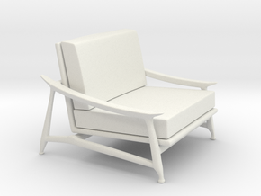 Lounge Chair in White Natural Versatile Plastic