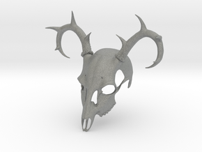 Deer Skull Mask in Gray PA12