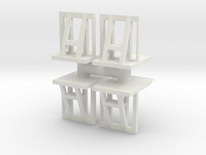 Crowd barrier (x4) 1/43 in White Natural Versatile Plastic