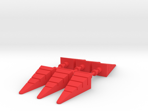 Giant Acroyear Acrojet Missiles in Red Processed Versatile Plastic: Large