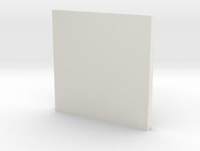 Tie Fighter Pilot Chest Box Button in White Natural Versatile Plastic