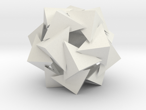 Crooked Star Dodecahedron in White Natural Versatile Plastic