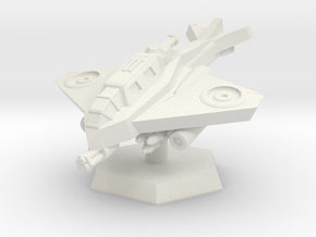 VTOL Fighter (Advancing) in White Natural Versatile Plastic: Extra Small