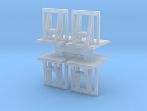 Crowd barrier (x4) 1/120 in Smooth Fine Detail Plastic