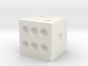 Tiny Dice that is very wrong but so right in White Natural Versatile Plastic