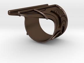 Bakara Ring Size 10 in Polished Bronze Steel