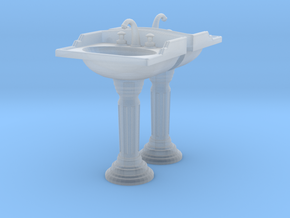 Toilet Sink Ver02. 1:24 Scale in Smooth Fine Detail Plastic