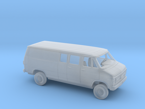 1/160 1984 Chevy G Van Long Wheelbase Partial W. in Smooth Fine Detail Plastic