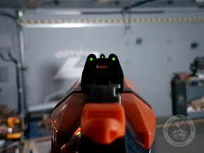 Rear Tritium Nerf Night Sight 3 in Black Natural Versatile Plastic