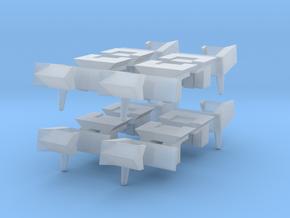 Self-acting rapido style N-gauge couplings in Smoothest Fine Detail Plastic