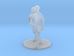 1/64 Couple Walking to Gym in Fall in Smooth Fine Detail Plastic