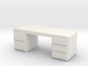 Office Desk 1/24 in White Natural Versatile Plastic