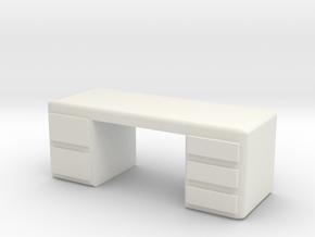 Office Desk 1/24 in White Natural Versatile Plastic