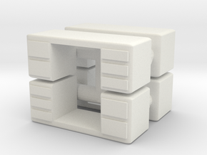 Office Desk (x4) 1/160 in White Natural Versatile Plastic