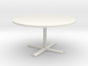 Office Table 1/35 in White Natural Versatile Plastic