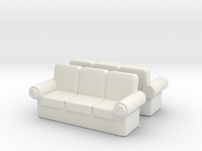 Sofa (x2) 1/87 in White Natural Versatile Plastic