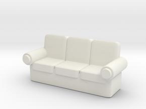 Sofa 1/48 in White Natural Versatile Plastic