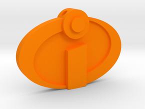 The Incredibles - Logo Charm in Orange Processed Versatile Plastic