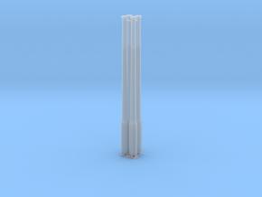 Betonmast 5m achteckig, hohl, DDR, 1:45, 4 Stück in Smooth Fine Detail Plastic