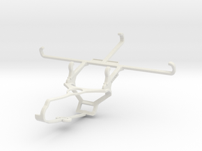 Controller mount for Steam & Oppo Reno Ace - Front in White Natural Versatile Plastic