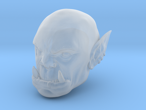 Orc Warlord Head in Smoothest Fine Detail Plastic