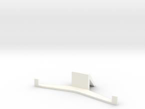 HTC ONE M8 stand (landscape) in White Processed Versatile Plastic