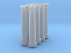 HO Scale 20 ft x 48 inch pillars in Smoothest Fine Detail Plastic