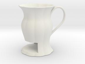 Cookie Mug in White Natural Versatile Plastic