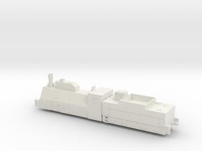 1/144 Russian armored locomotive in White Natural Versatile Plastic