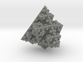fractal ornament 0.4  (6.99 x 7 x 7.42 cm) in Gray PA12