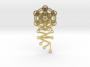 Archangel Metatron Activation Key in Polished Brass